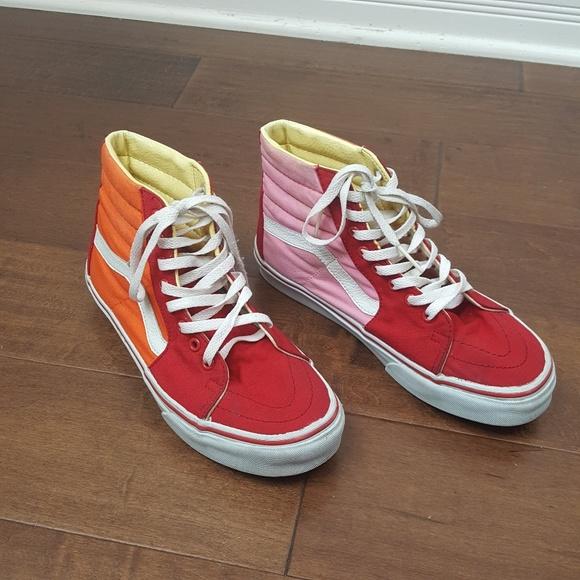 Vans Shoes   Vans Color Block High Tops